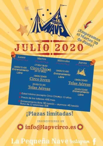 1 La Pequeña Nave-Julio 2020 talleres circo