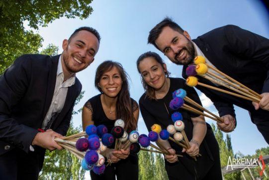 Arkeima Percusión Quartet.
