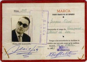 Carnet del periódico deportivo MARCA.