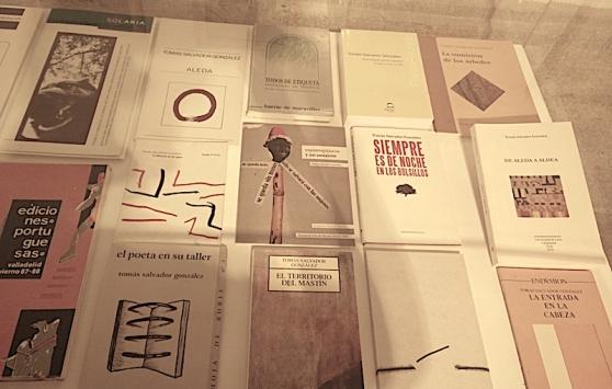 Libros de Tomás Salvador. Fotografía: Clara Ponte.