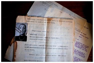 Ancienne déclaration pour la préfecture de Police de Paris, 1941